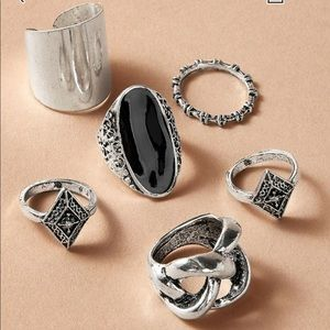 Jewelry - Knot Decor Rings (6pc)